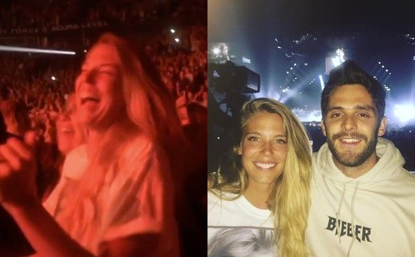 Thomas Rhett and Lauren Akins Jamming Out at This Justin Bieber Concert Is Total #Goals