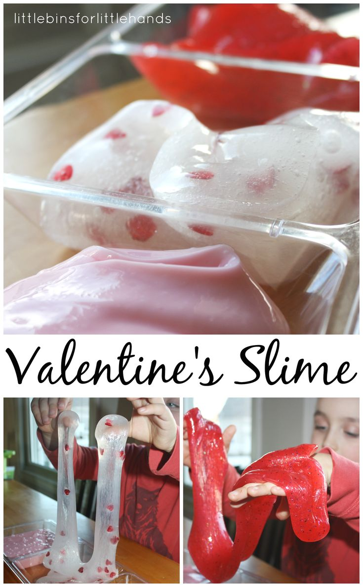 Valentines Slime Sensory Play Science Activity