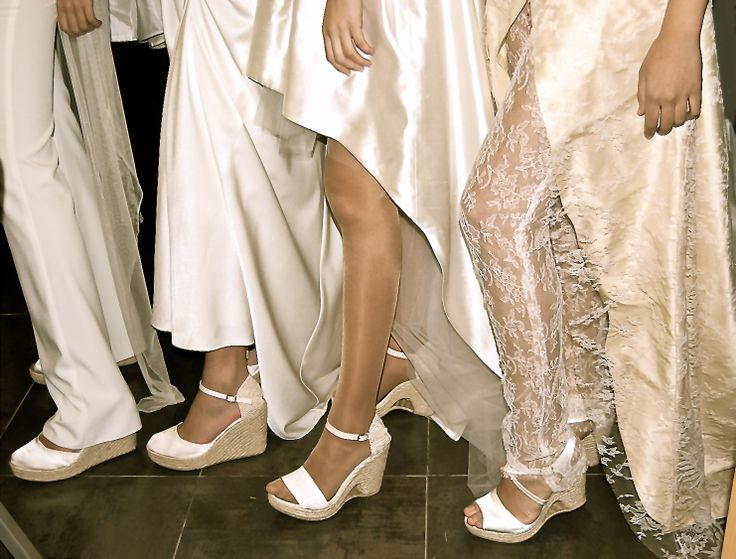 Varios modelos de alpargatas de novia de Eduard Castillo Barcelona