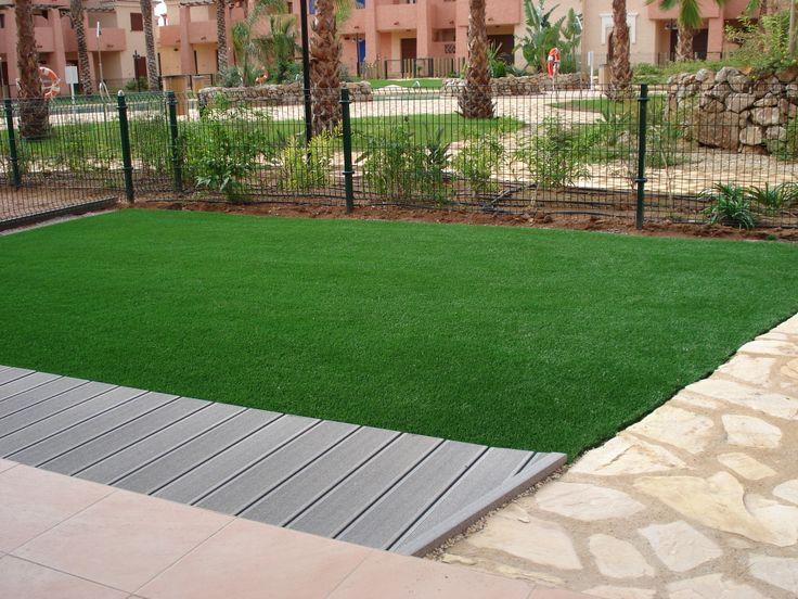 tarima exterior csped artificial cesped en casa bajo jardines artificial grass at home