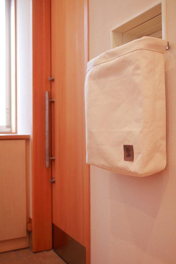 帆布のポスト袋 シューズクローゼット 玄関 クローゼット