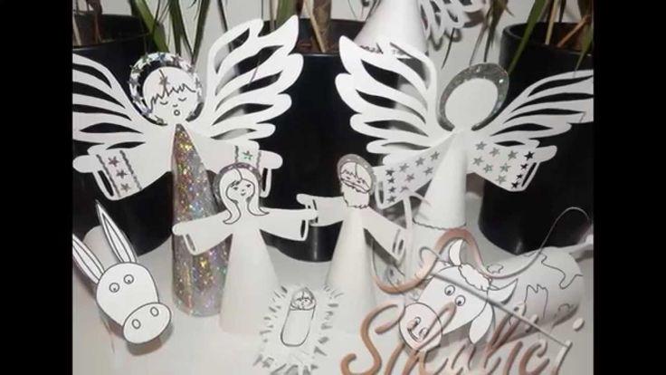 Betlém z papíru s návodem a odkazem pro stažení, paper nativity scene free printable