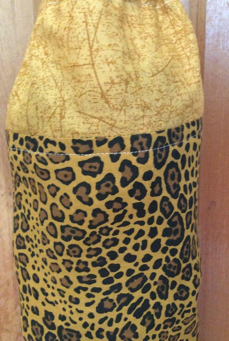 Plastic Bag Dispenser - Spotted Leopard Print