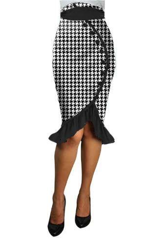 Ruffles Pencil Skirt alterd by Amber Middaugh