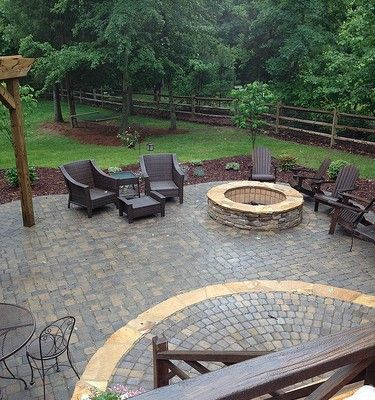 10 cheap but creative ideas for your garden 4. stairs firepit ... - Patio Paver Ideas Landscaping