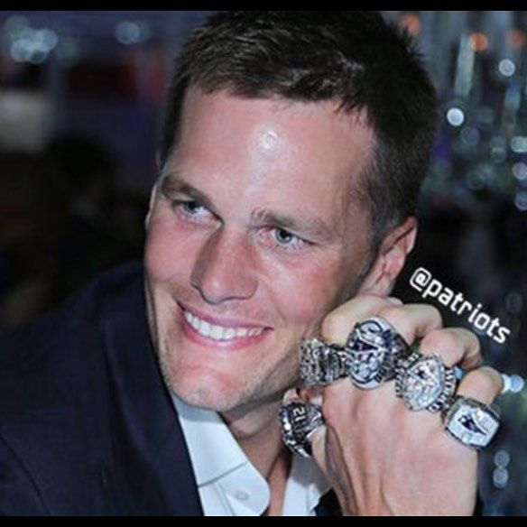 Tom Brady & the Patriots have their shiny new rings for winning Super Bowl 51 which makes a handful for Tom Terrific. #patriots #tombrady #showoff #tmzsports #tmz