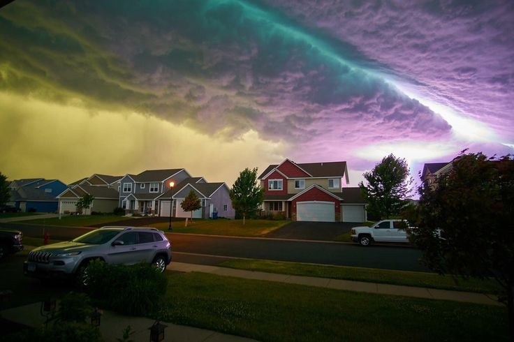 Minutes before a major wind and hail storm - HUGO, MN