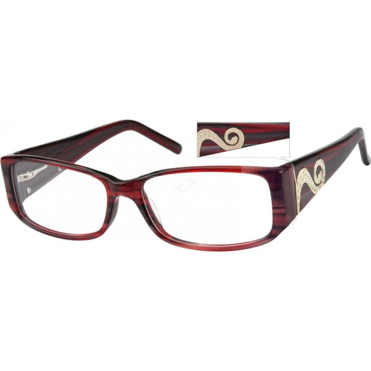 A full rim acetate frame with spring hinges, and design on temples. ...Price - $25.95-e8l5L7m2
