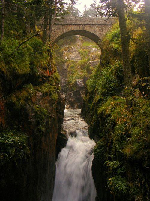Canyon Bridge, Mid-Pyrenees, France
