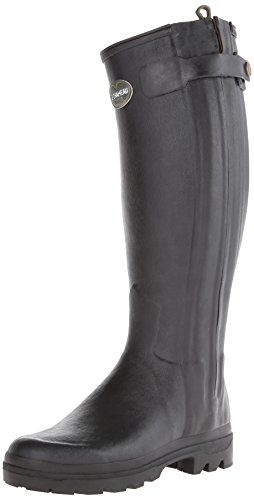 Le Chamaeu Womens Chasseur Cuir Boot Black Size 41 >>> For more information, visit image link.
