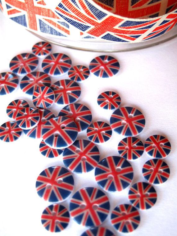 Buttons Portobello Road Union Jack mini Buttons awesome by BigFish, £3.25