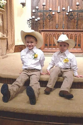 ring bearer outfit - wasn't sure you were doing full on Texas cowboy, but...