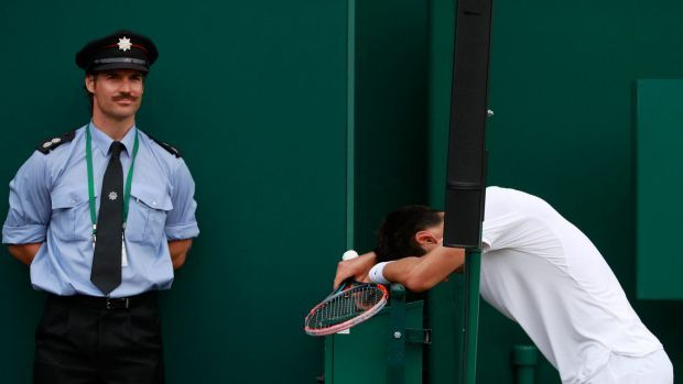 What am I doing here? Bernard Tomic did not have a good time at Wimbledon.