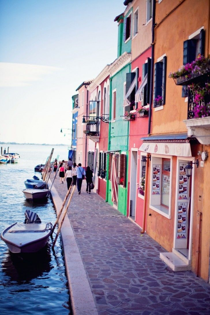 Burano - I got to visit this tiny island. :) it was wonderfully colorful and every shop had things made from blown glass.
