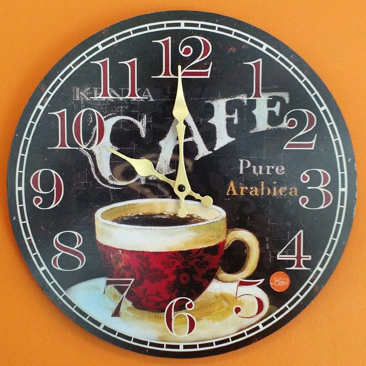 Relógio de Parede Preto Café - 33.8x33.8cm - Relógio de parede com base em MDF cortado a laser e estampado. Ponteiro de minutos com movimentos contínuo a cada segundo. Dois ponteiros: Minuto e Hora Mecanismo: Step Material MDF estampado Alimentação 1 pilha AA 1.5v Suporte para pendurara moldura na parede. Tamanho:33.8x33.8cm