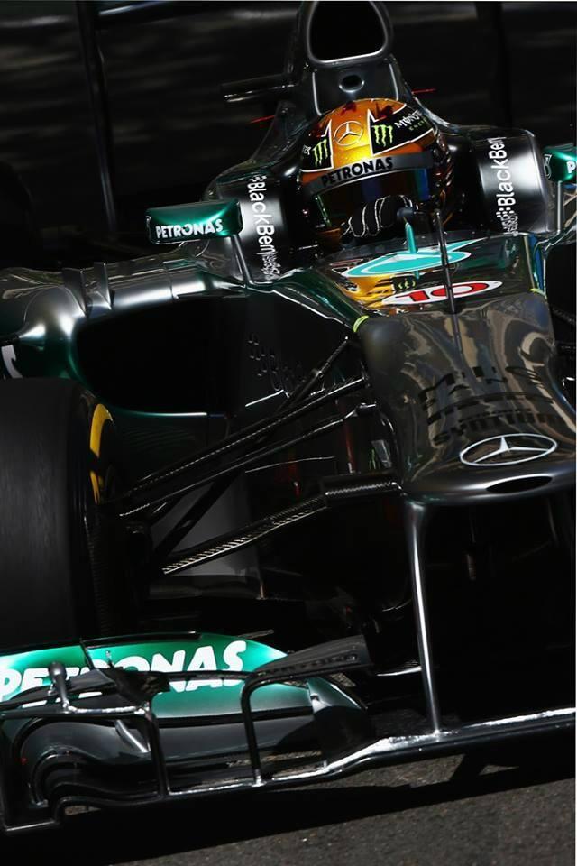 Lewis Hamilton during practice at Monaco, 2013.