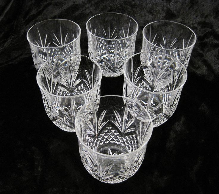 6 Cut Crystal 10 oz Whisky Tumblers, Large Whisky Glasses by TheWhistlingMan on Etsy