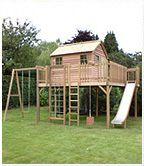 12' x 12' platform with monster 8' x 6' cedar cottage