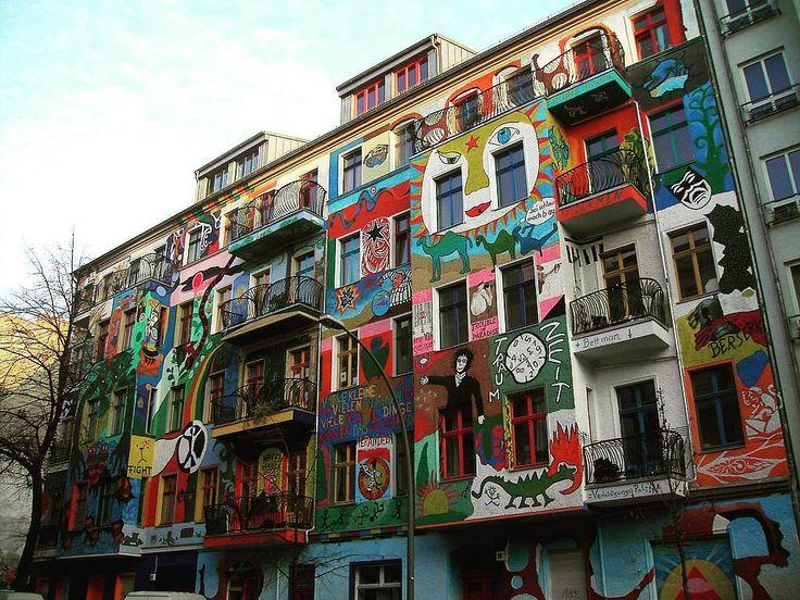 "214 Likes, 9 Comments - @psychomantis7 on Instagram: ""#friedrichshain #colours #building #art #streetart #painting #graffiti #germany #berlin"""