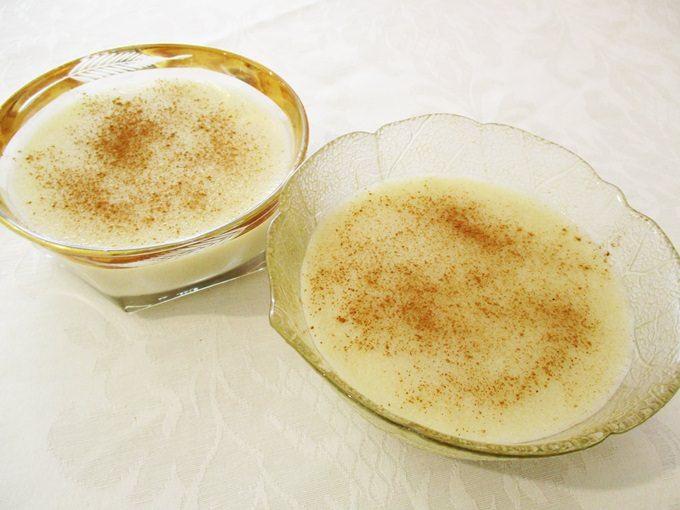 Banana cream with semolina and coconut milk / Κρέμα μπανάνας με σιμιγδάλι και γάλα καρύδας