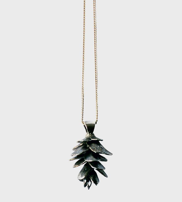 Pinecone Necklace by Justine Brooks Design