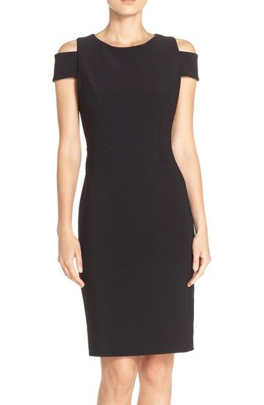 Vince Camuto Cold Shoulder Crepe Sheath Dress available at #Nordstrom