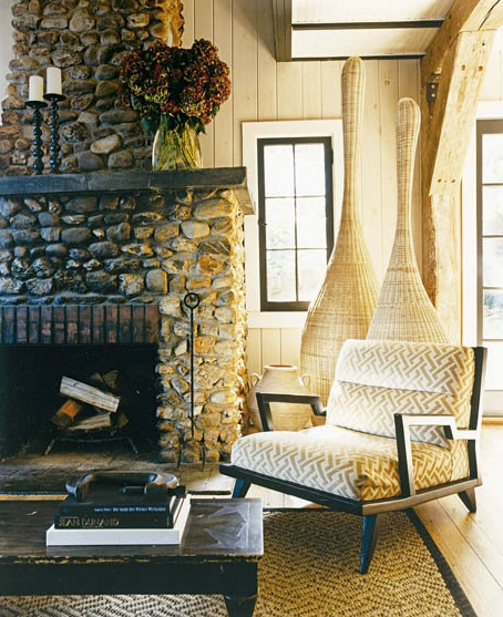 fireplace thom filicia cabin