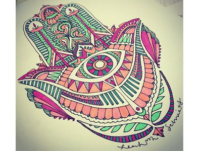 In color. Hamsa
