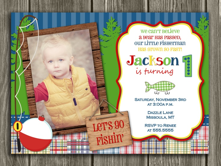 1000 images about fish themed birthday party on pinterest for Fishing birthday party invitations