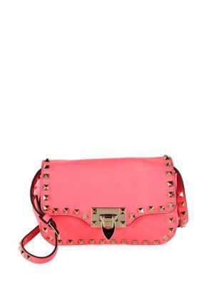 VALENTINO Leather Foldover Crossbody Bag. #valentino #bags #shoulder bags #leather #crossbody #