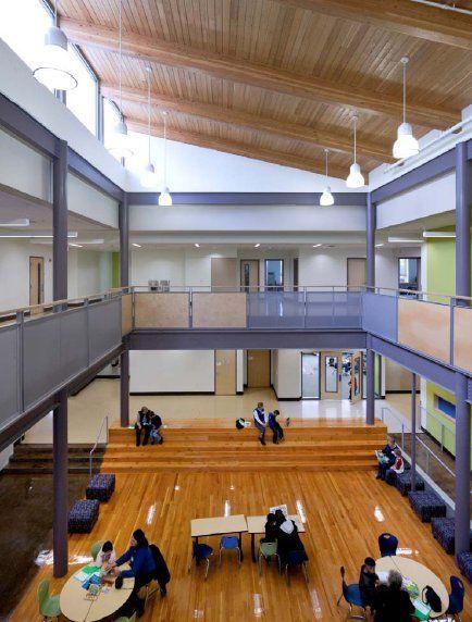 Beautiful Learning Spaces School HallMedford OregonSchool
