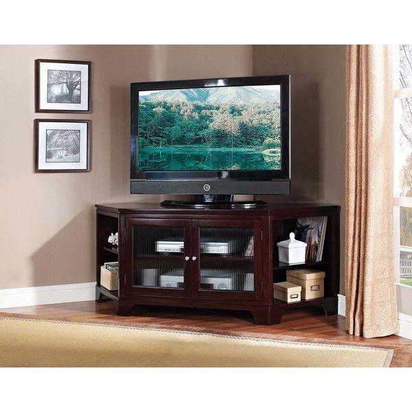 Namir Espresso Corner TV Stand  Me sigue gustando mucho, este mueble, y haría un buen conjunto con una mesa que he añadido en otro pin.