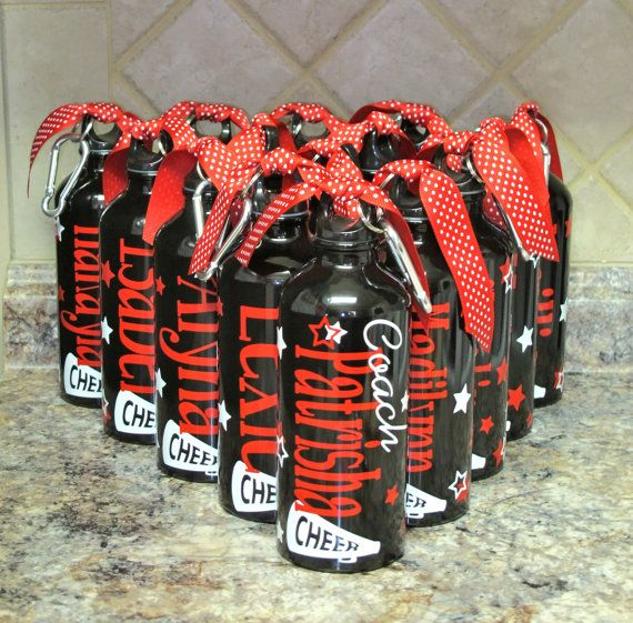 Personalized Aluminum Water Bottle-Cheer-Cheerleaders on Etsy, $10.00