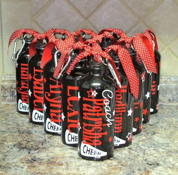 Personalized Aluminum Water Bottle-Cheer-Cheerleaders on Etsy, $10.00