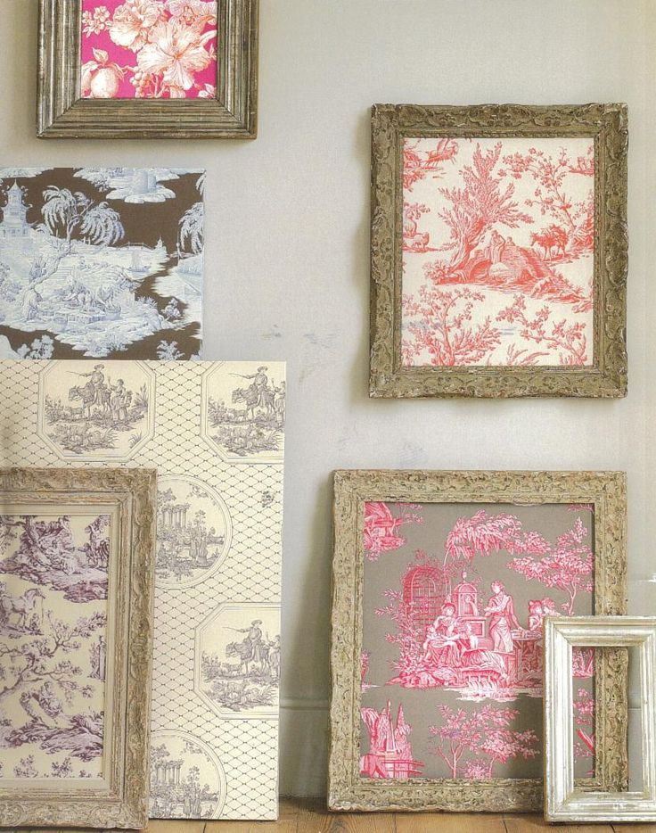 Toile de Jouy...beautiful prints but in funky colours
