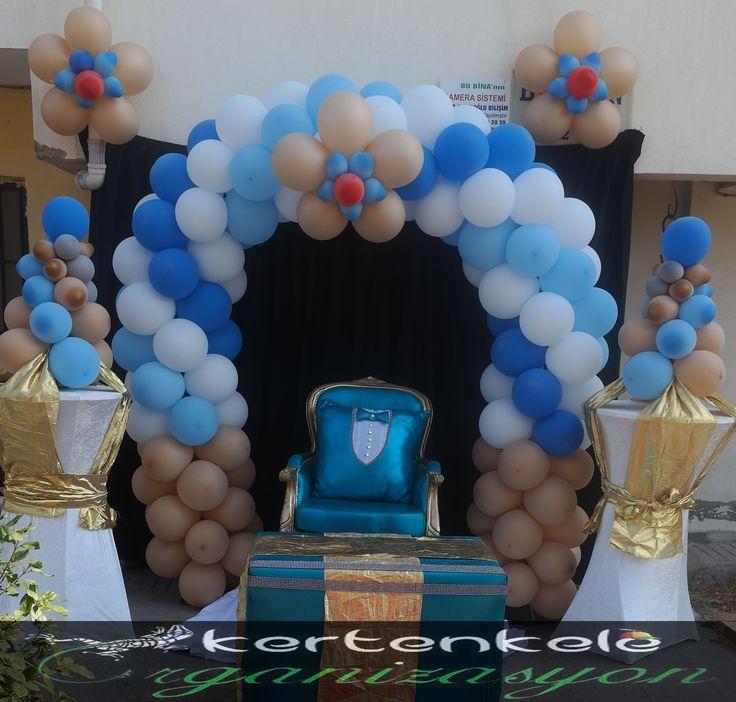 Sünnet Tahtı, Sünnet Organizasyonu , Balon Süsleme, Thron