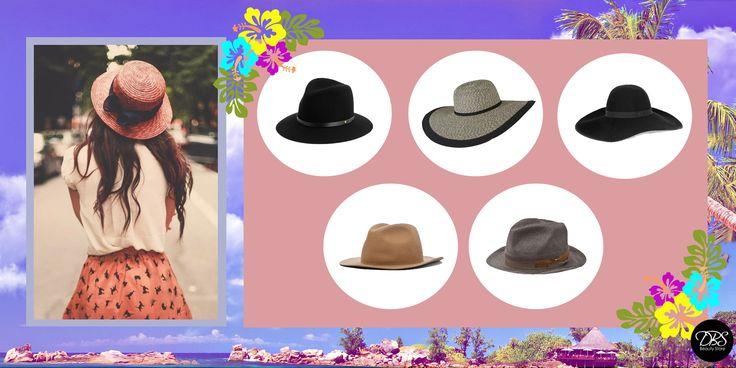 Para cuidar el cabello del sol este verano, no sólo debes aplicar productos humectantes, si no que cuidarlo de los fuertes rayos UV. Una de las tendencias fuertes que se encuentra durante este año es el uso de sombreros. El sombrero ayuda a proteger tu cabello de los dañinos rayos del sol y lo puedes ocupar en la playa, como en el día a día. Aquí te mostramos algunos tipos de sombreros que puedes usar, para protegerte y verte linda. #DBS #Hats #Summer