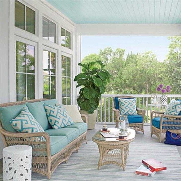 Front Porch Ceiling Ideas: Coastal Living Showhouse 2013