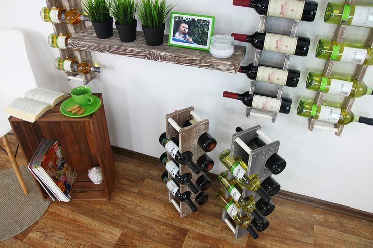 Stojak na wino RW-18 2x4 7 butelek - Seria RW-18 - Regały na wino