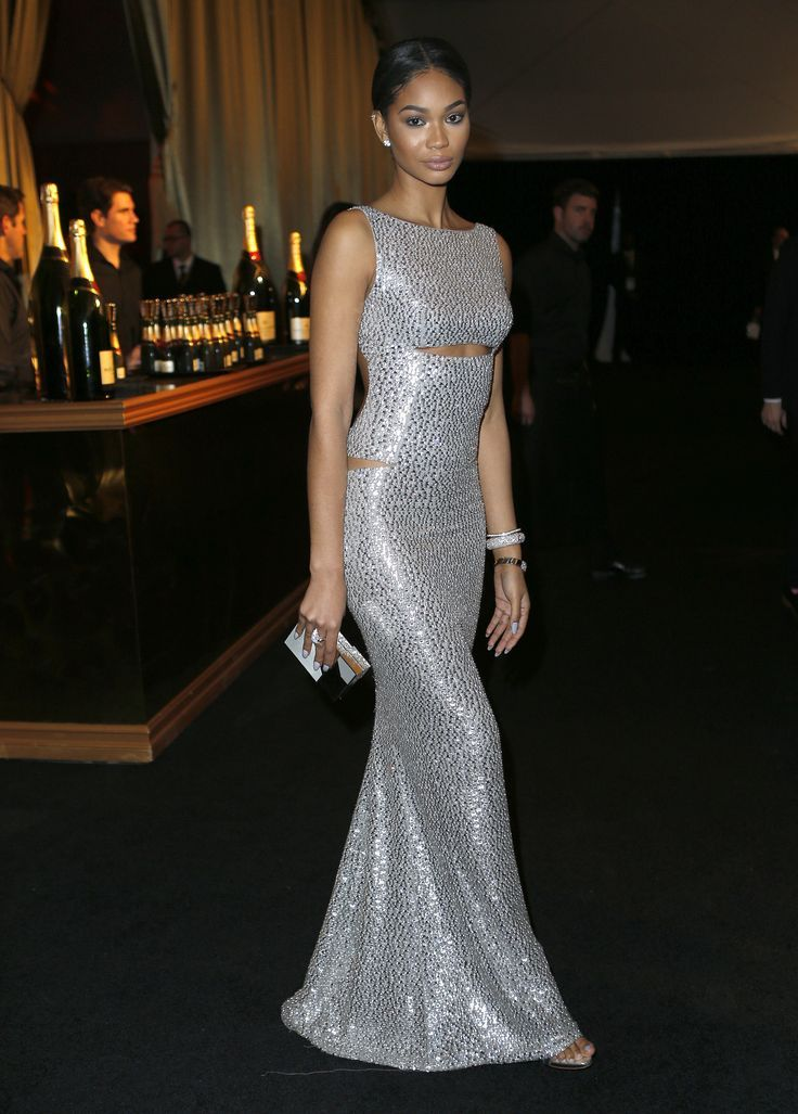 Chanel Iman. The Afterparties Deliver Another Dose of Golden Globes Glamour. #goldenglobesafterparty #celebs