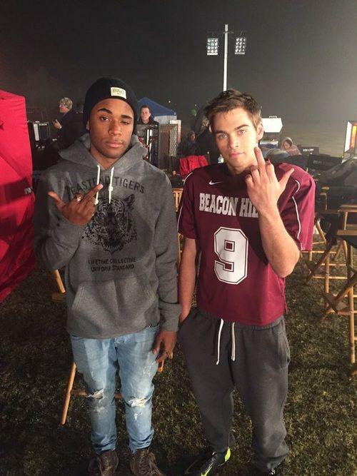 Khylin Rhambo and Dylan Sprayberry on the set of #TeenWolfSeason5B!!!