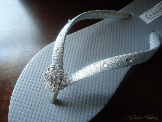 Hey, I found this really awesome Etsy listing at https://www.etsy.com/listing/176784473/silver-flip-flops-bridal-flip-flops-w