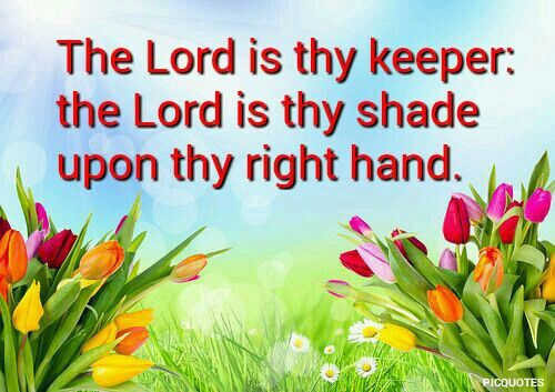 psalm 121:5 Kjv he Lord is thy keeper: the Lord is thy shade upon thy right hand.