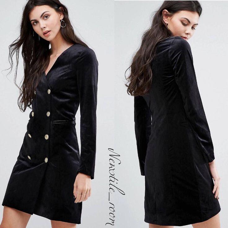 Двубортное бархатное платье от Европейского бренда Vero Moda 💥 Размеры 40-48. Цена 5980₽. На заказ. #одеждаизевропы #бренд #платьенапраздник #платьенапраздник #бархатноеплатье #новинки #брендоваяодежда #моднаяодежда #новаяколлекция #распродажа #скидки #обувь #сумки #стиль #мода #осень