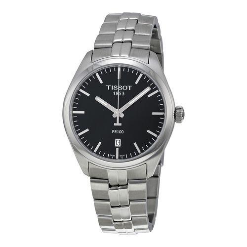 Tissot PR 100 Black Dial Stainless Steel Men's Watch (W-T1014101105100)