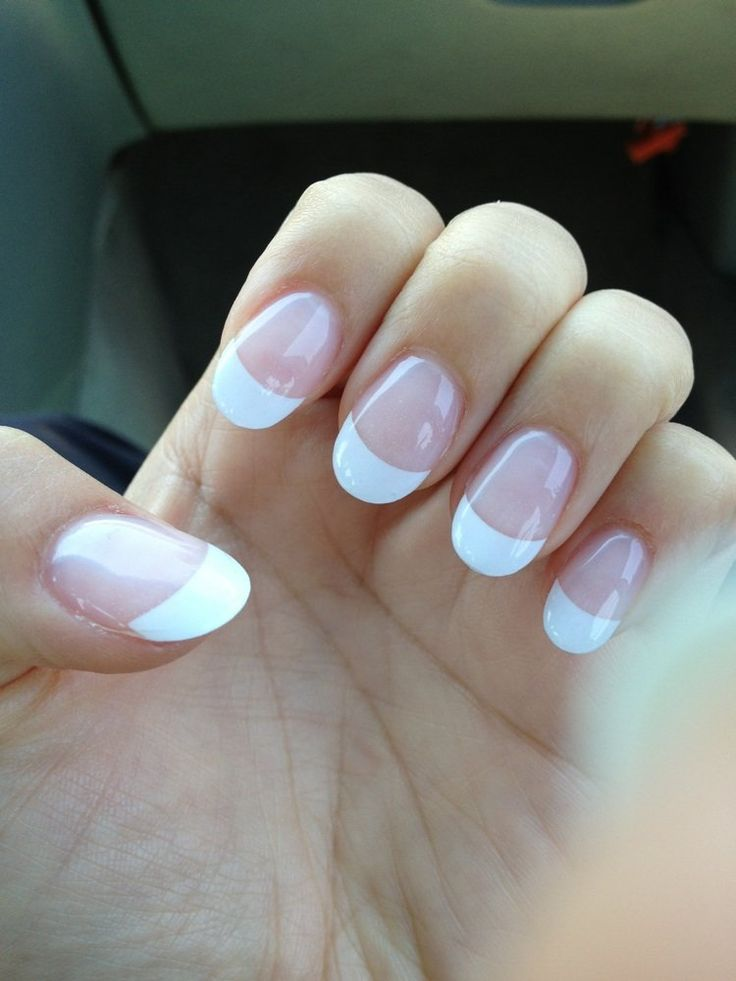 Nails 21 - Gel French tip, round nails .. Love it! Thank you Vicky:) - San Jose, CA, United States
