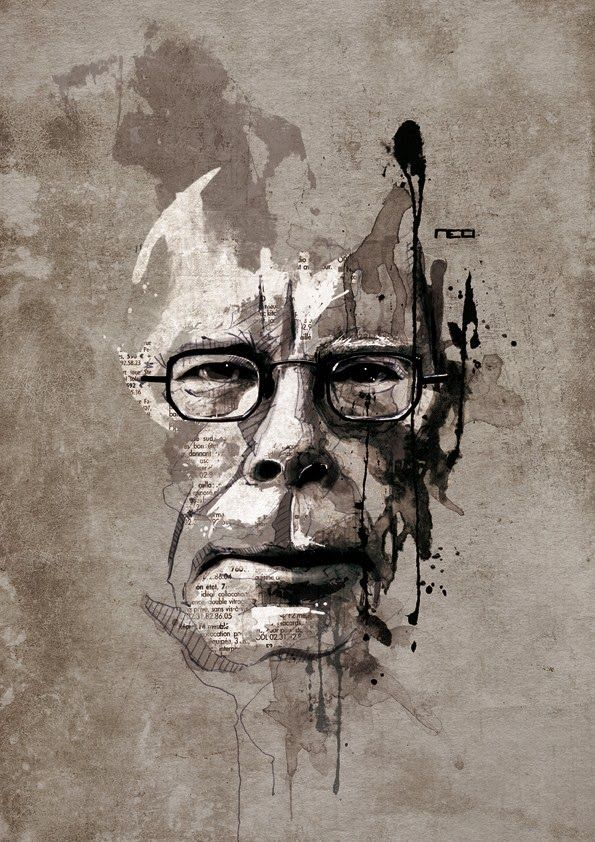 Stephen King. Portrait Paintings focused on Expressions. See more art and information about Florian Nicolle, Press the Image.