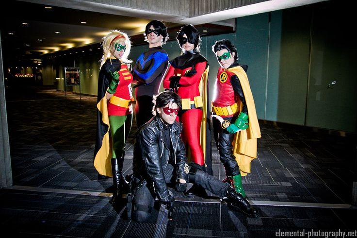 The Robins - Batman by CourtoonXIII.deviantart.com on @deviantART