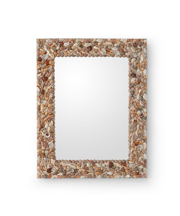 The Wildwood Shell Frame Mirror 292531 is a tropical wall mirror available in finish.The tropical style is sure to complement any bedroom, entry, dining room, hallway or bathroom.  $172.50 ◾Product Shape:  Rectangular ◾UL Listing:  Dry Locations Dimensions Height:   28.00 inches Width:   22.00 inches