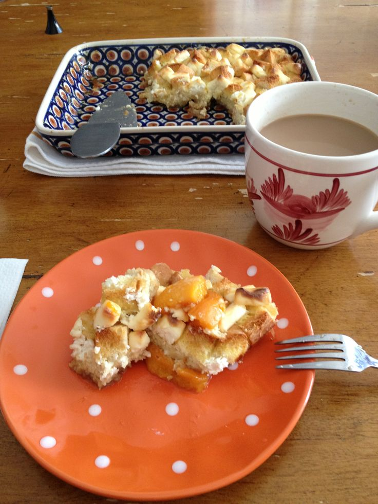 Peaches and Cream French Toast!!!   What's For Breakfast?   Pinterest